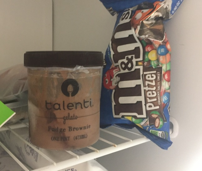 Talenti Gelati and Pretzel M&Ms